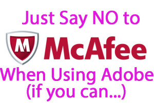 McAfee Crapware Warning
